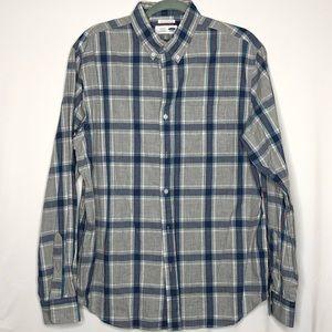Men's Old Navy Regular Fit Plaid Button Down Shirt